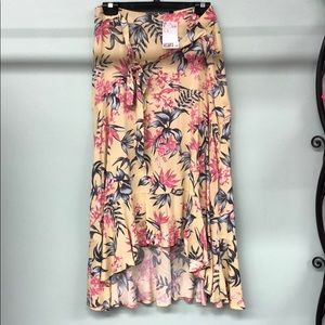 H&M floral hi low skirt BRAND NEW